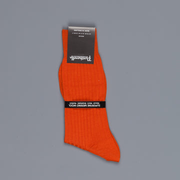 Pantherella Laburnum merino wool ankle high socks Burnt Orange