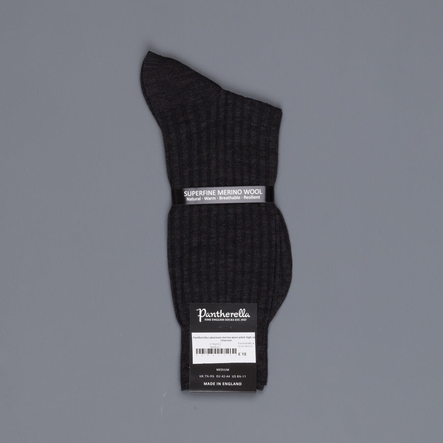 Pantherella Laburnum merino wool ankle high socks Charcoal