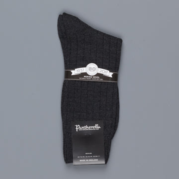 Pantherella Packington Merino wool socks Charcoal