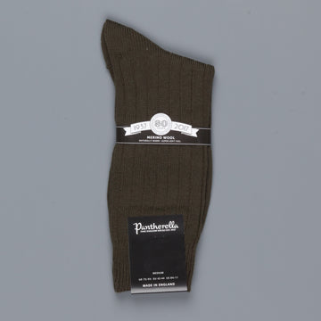 Pantherella Packington Merino wool socks Dark Olive