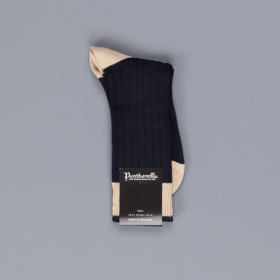 Pantherella Barrow Cotton socks Navy light Khaki