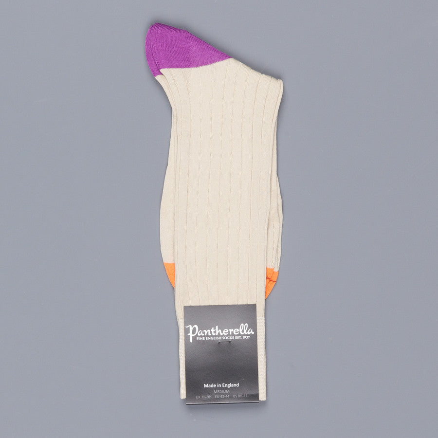 Pantherella Portobello Calico Socks in egyptian cotton lisle