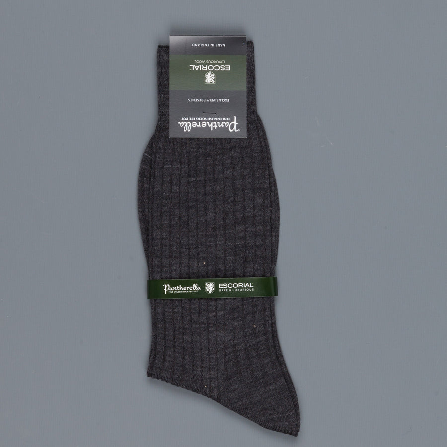 Pantherella Escorial wool ankle high socks Dark Grey
