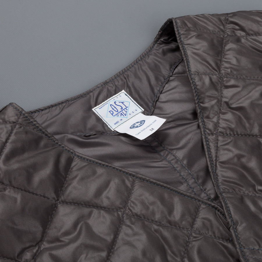 Post o'Alls Royal Traveller quilted nylon taffeta Grey