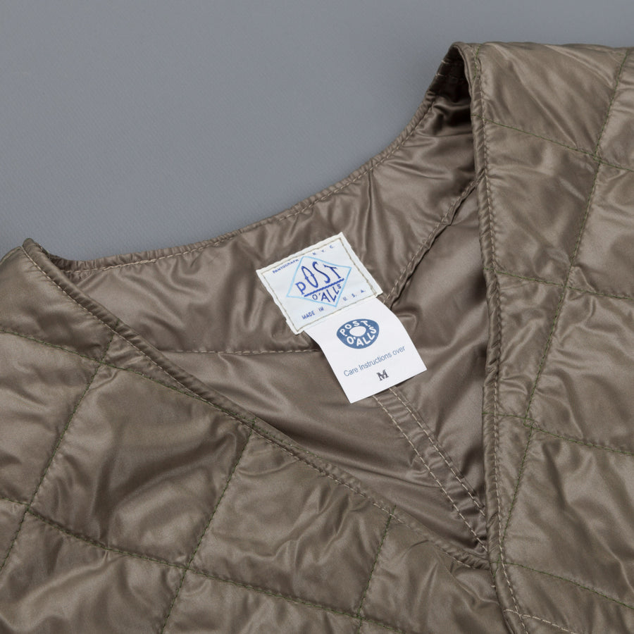 Post o'Alls Royal Traveller quilted nylon taffeta Olive