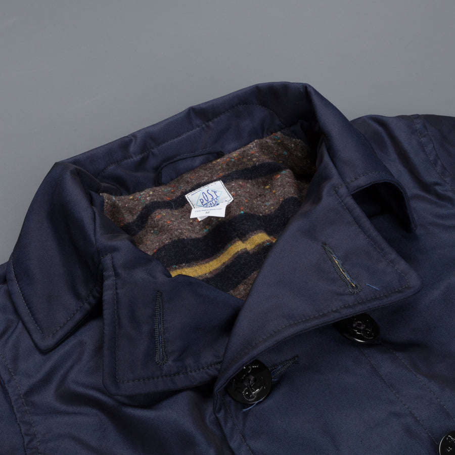 Post o' Alls P-Post French twill & Trashed wool Peacoat