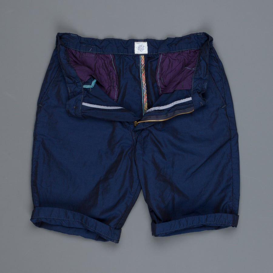Post O'Alls Lined Menpolini Shorts iridescent oxford OX navy
