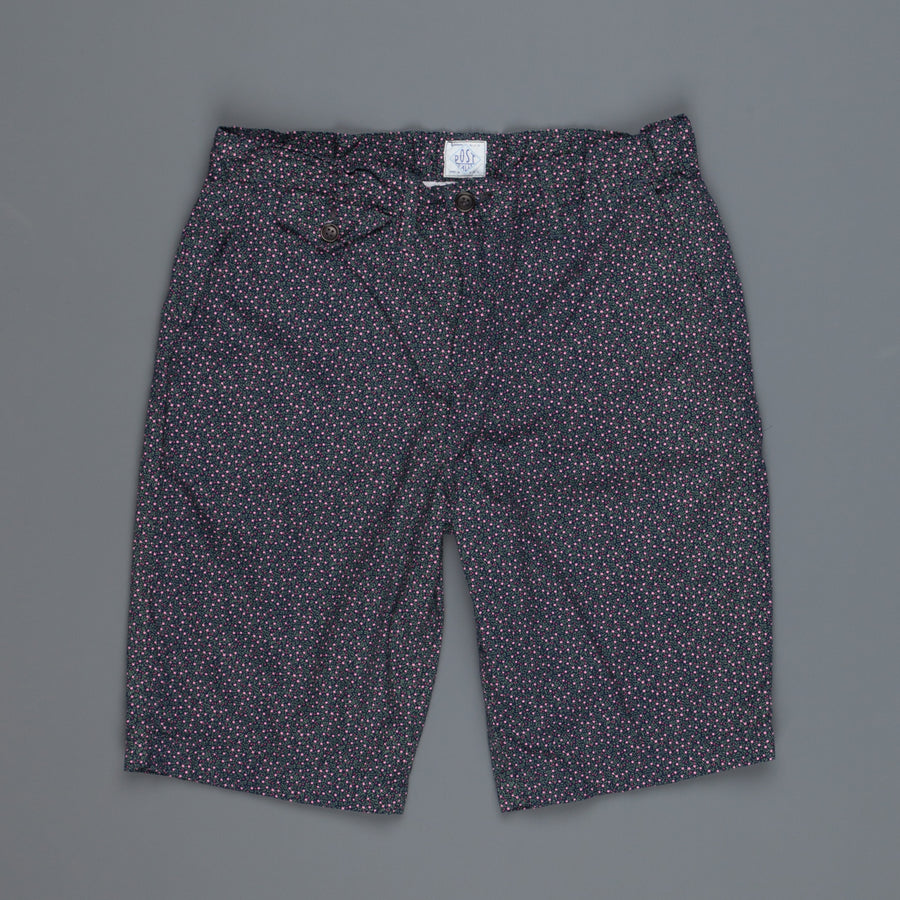 Post O'Alls Lined Menpolini Shorts navy flower salmon