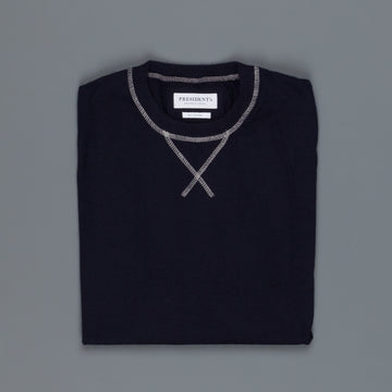 President's Crew Knit Light Pure Cashmere Blu Navy