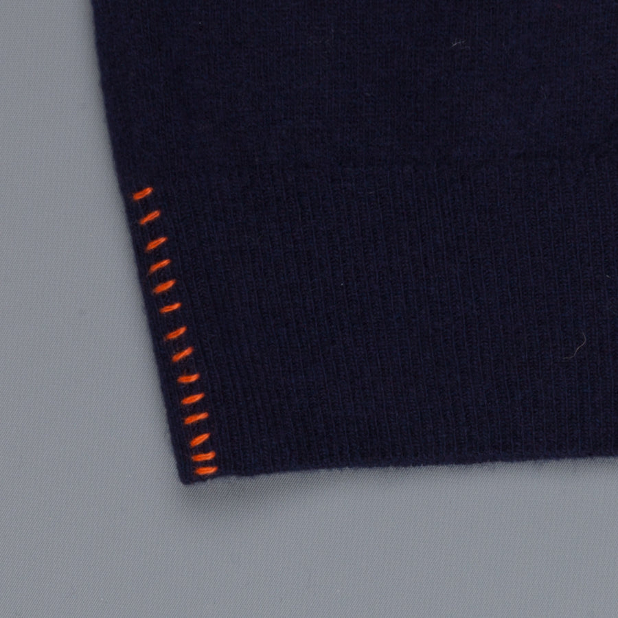 President's Crew Neck washed wool blue