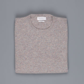 President's Crew Neck washed wool Brown