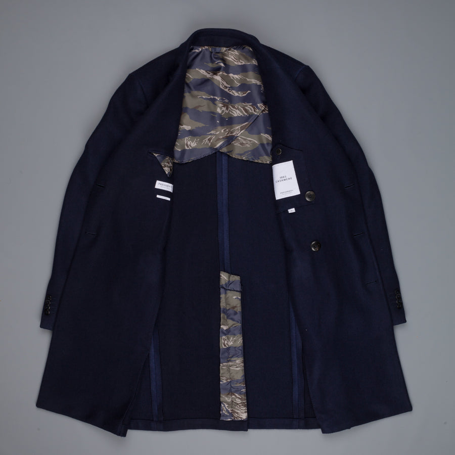 President's Crown DB Coat Cahmere Dyed Navy