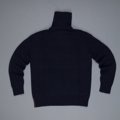 President's Heavy Cashmere Turtle Neck Navy