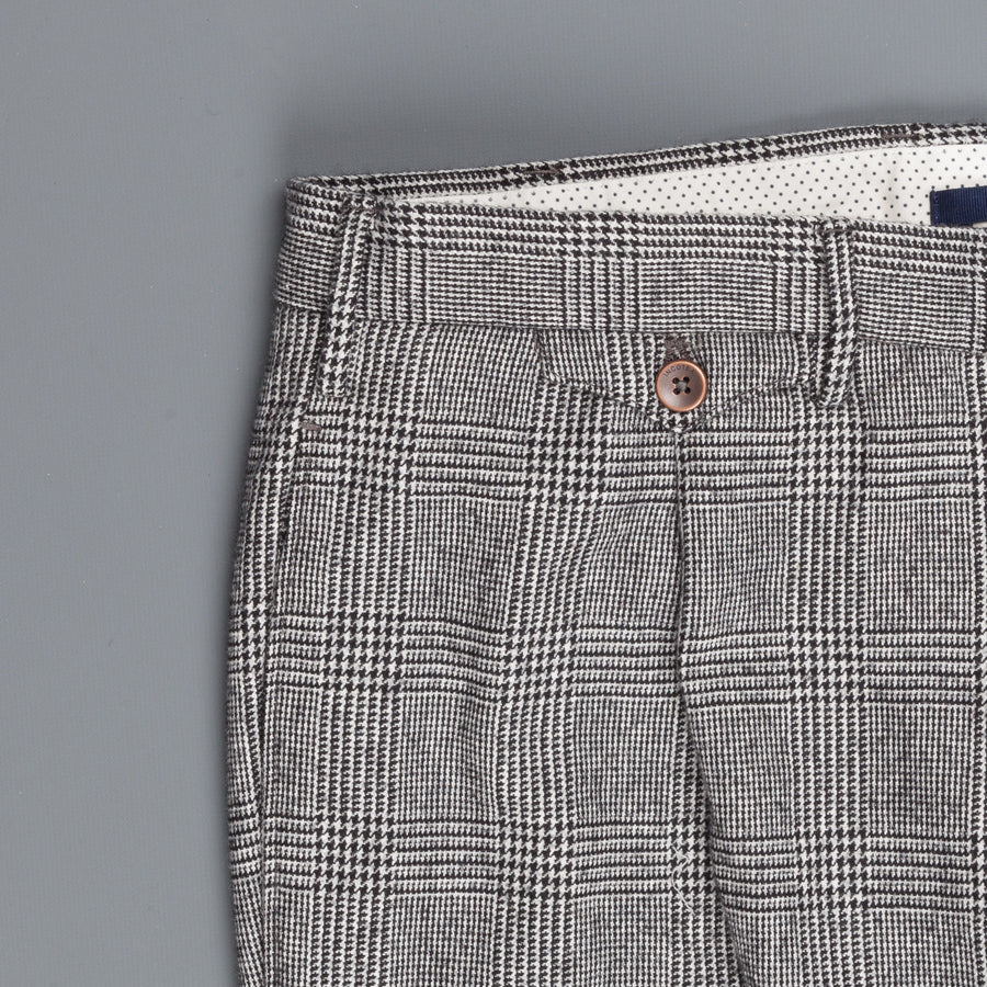 Incotex Venezia Model 30 Slim Fit pants Prince of Wales Grigio