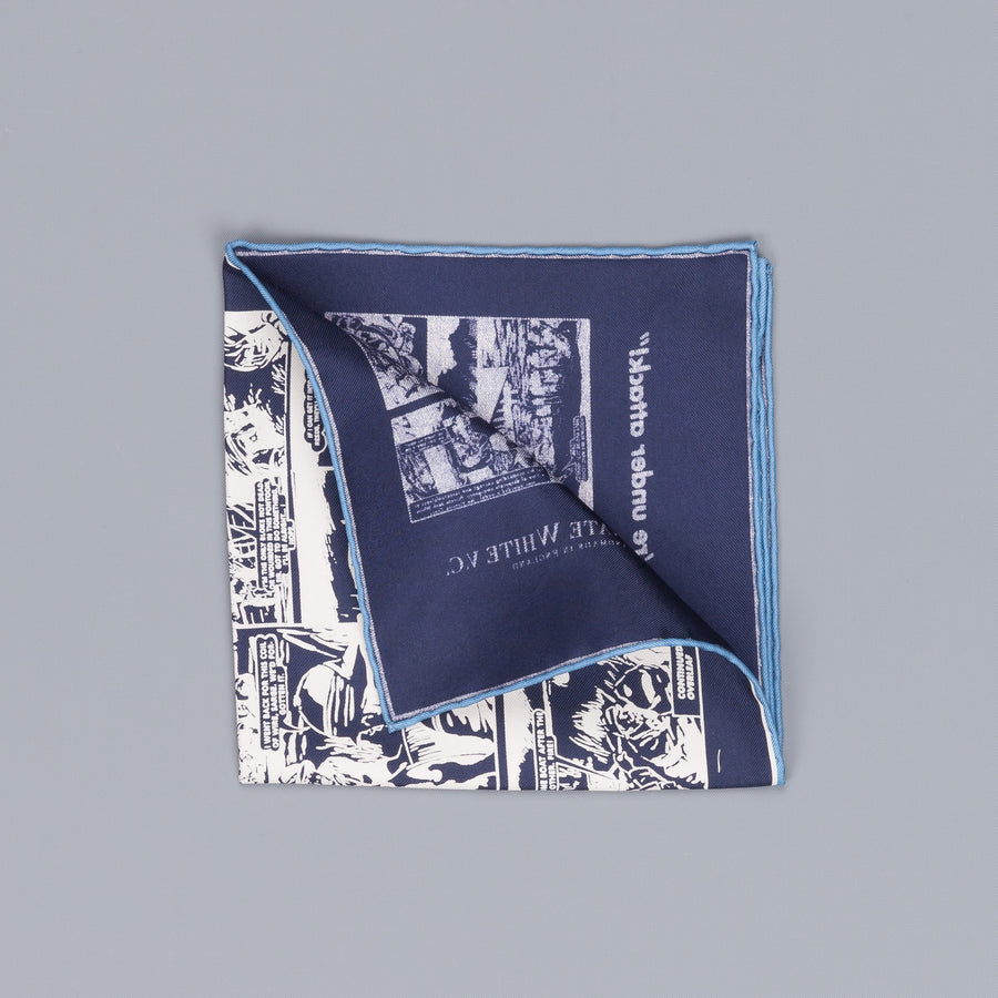 Private White v.c. Victor pocket square Navy white
