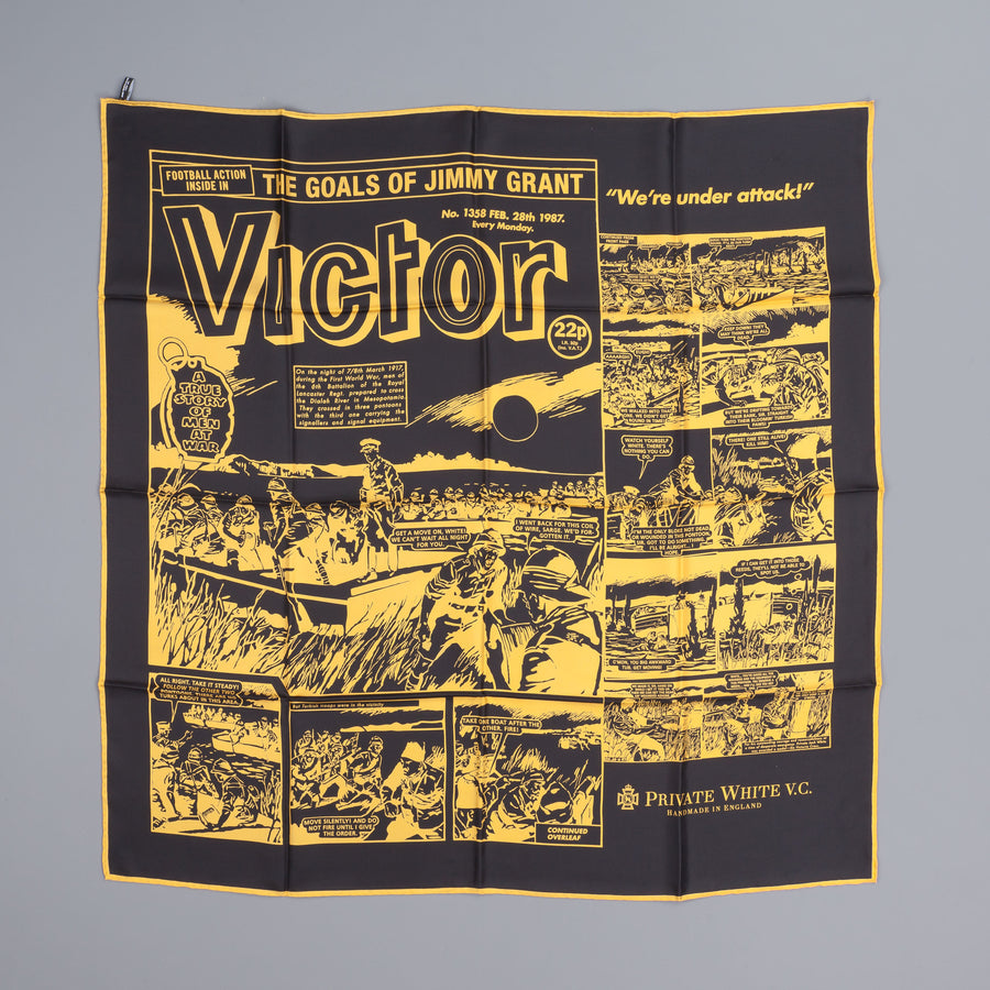 Private White v.c. Victor Motorcycle scarf yellow black