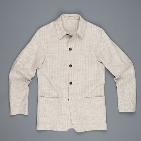 Private White V.C Tropical weave Shacket Mocha