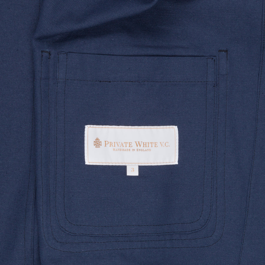 Private White V.C tropical weave shacket Navy