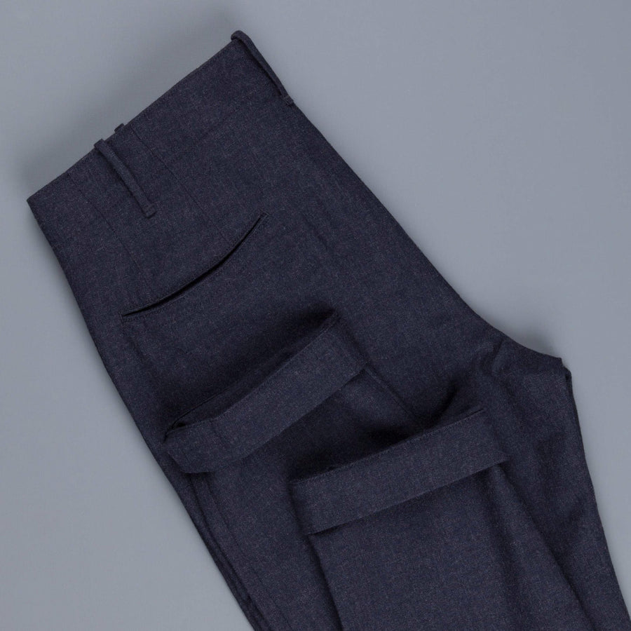 Incotex Red pants in washed wool twill navy