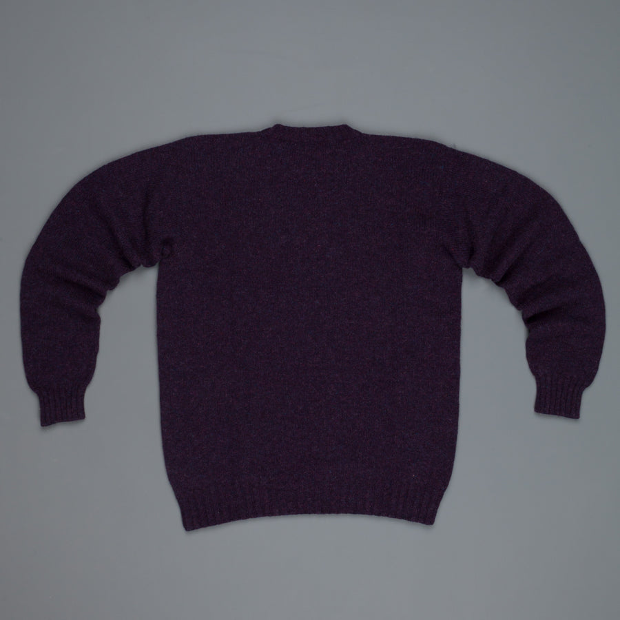 Laurence J. Smith  Super soft Seamless Crew Neck Pullover Blueberry