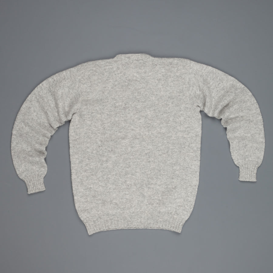 Laurence J. Smith  Super soft Seamless Crew Neck Pullover Silver