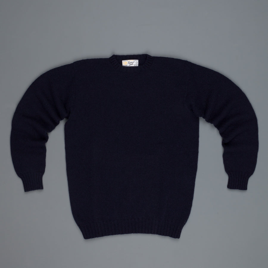 Laurence J. Smith  Super soft Seamless Crew Neck Pullover New Navy