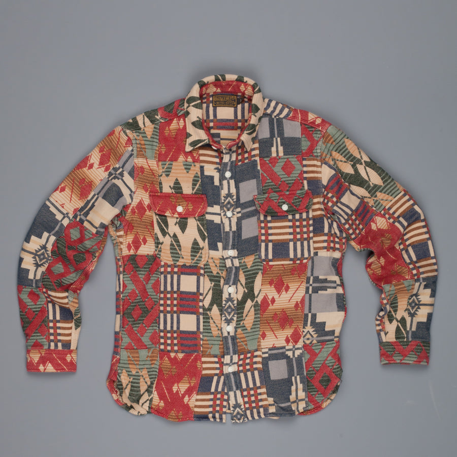 RRL Matlock Workshirt Beacon Jacquard Patchwork