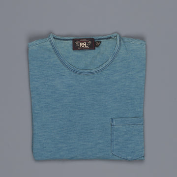 RRL Pocket Tee Short Sleeve Washed Blue Indigo