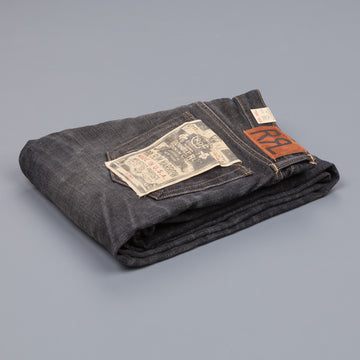 RRL Slim Narrow black coal wash denims