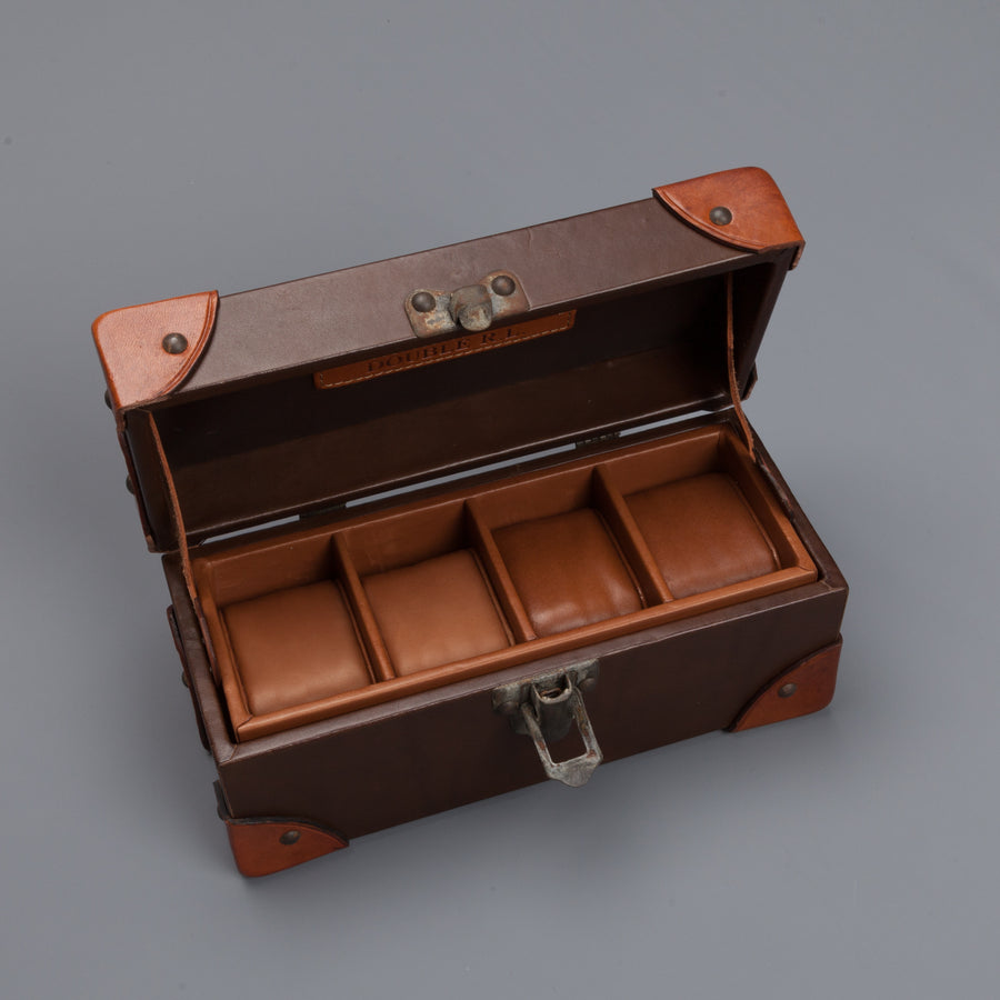 RRL Watch Box Travel Tumbled Leather Brown