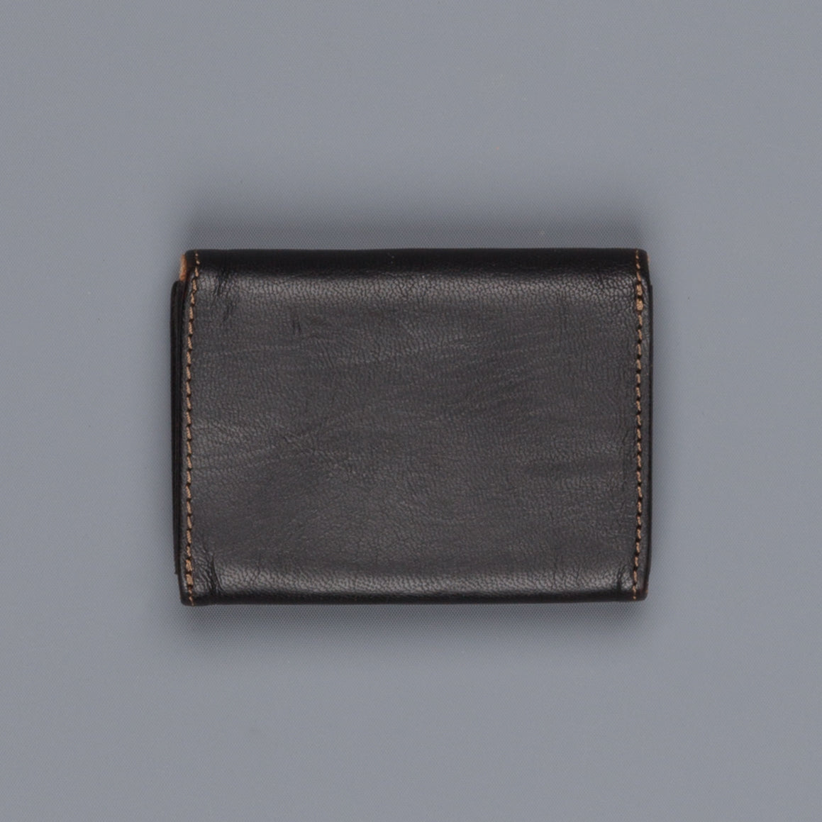 RRL Cardholder Tumbled Leather Black