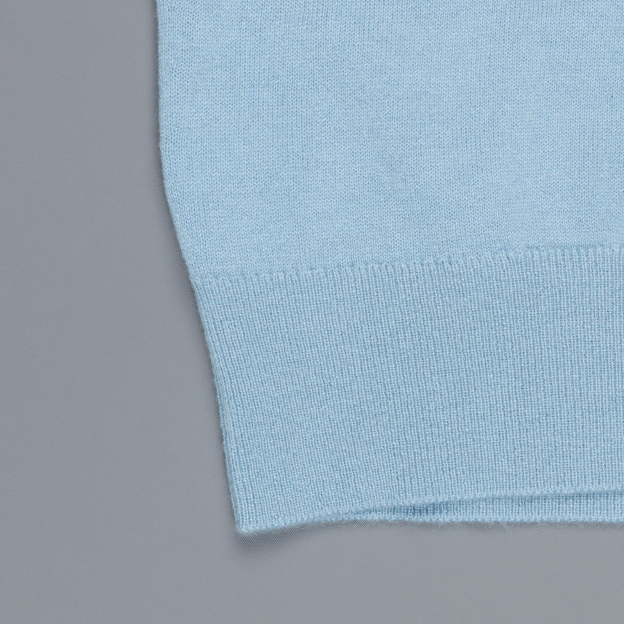 William Lockie Oxton Cashmere Crew Neck Blue Mist