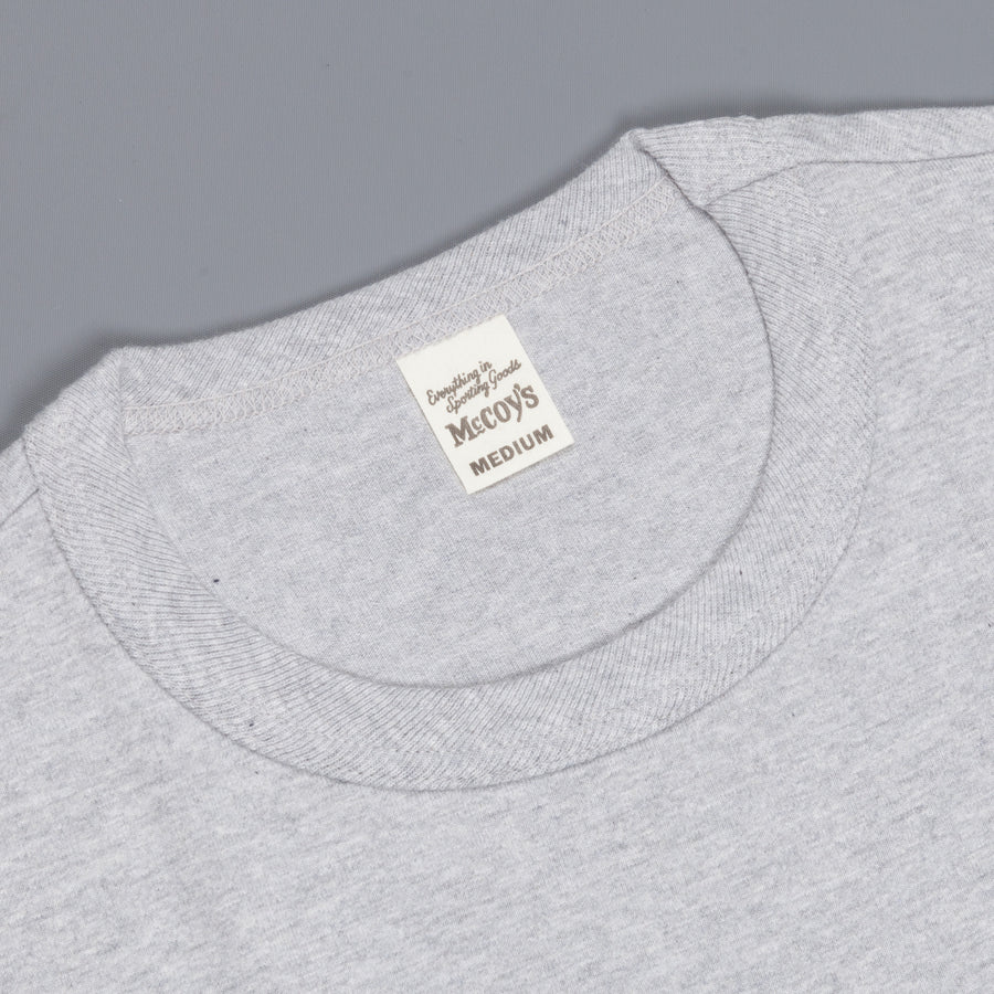 Real McCoy's 2 pack crew neck tee grey