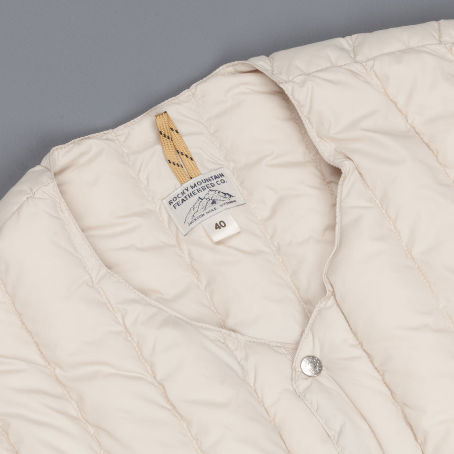Rocky Mountain Featherbed Six Month Cardigan Light Beige