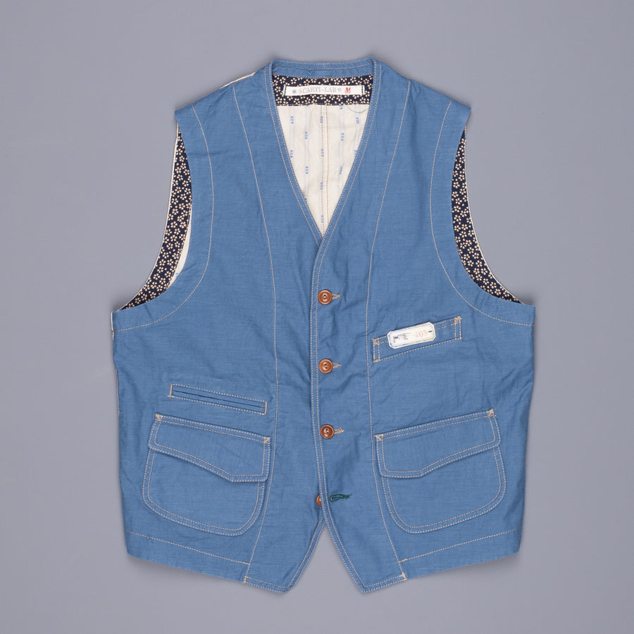Scarti lab model 403 razo cotton waistcoat blu
