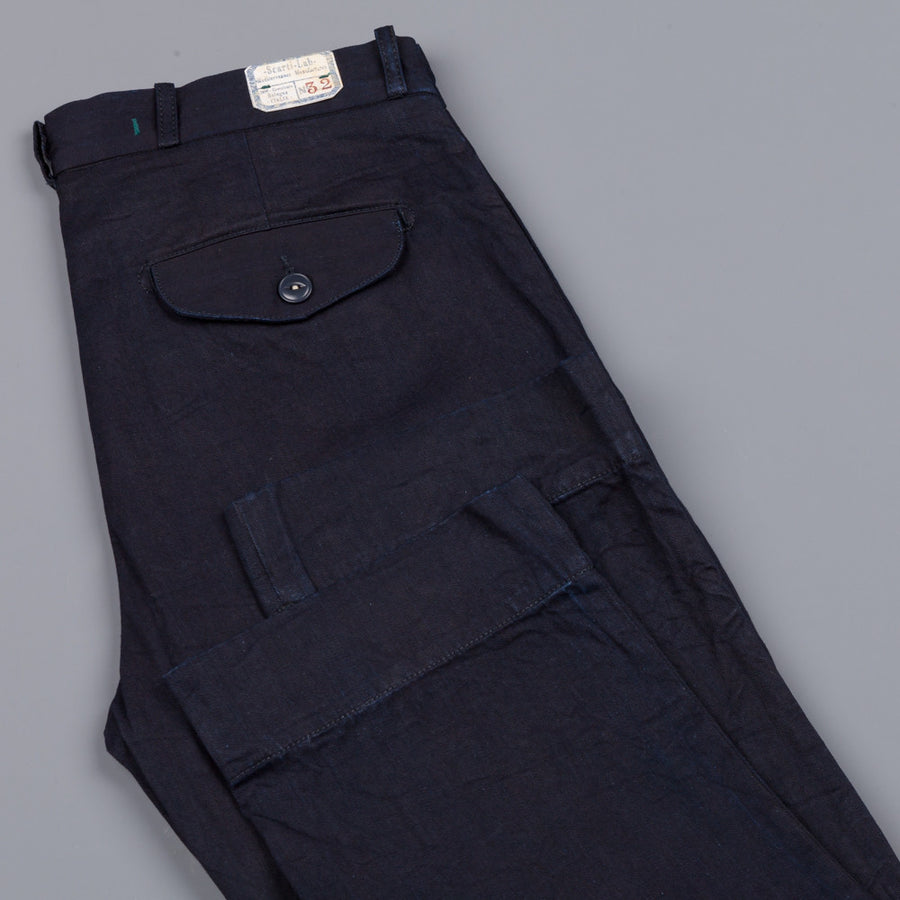 Scartilab indigo overdyed twill chino's