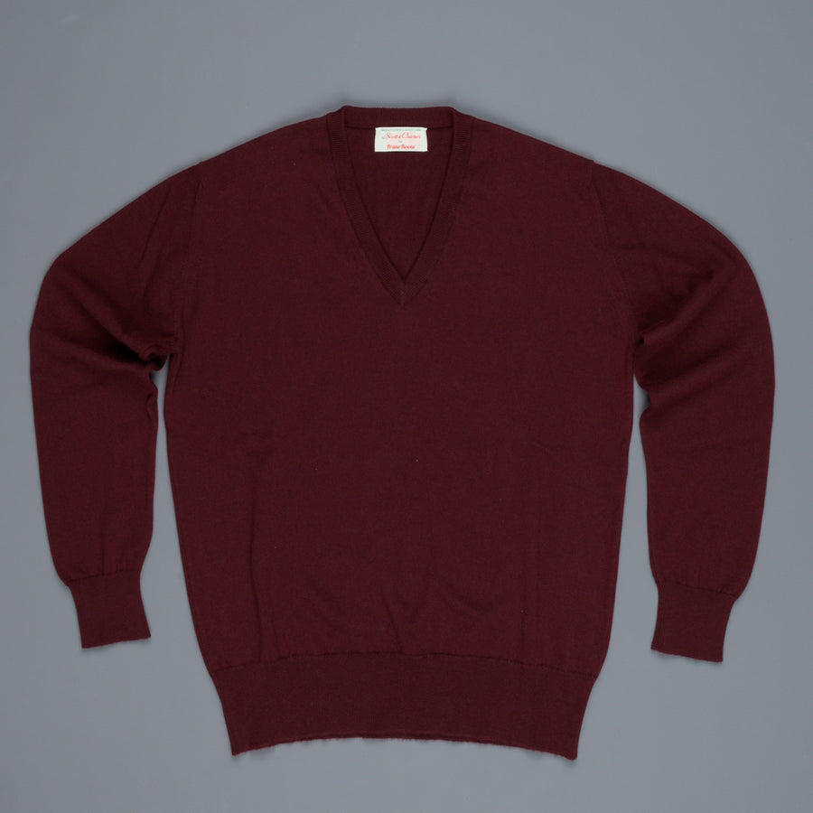 Scott and Charters x Frans Boone V-neck cashmere cotton Port