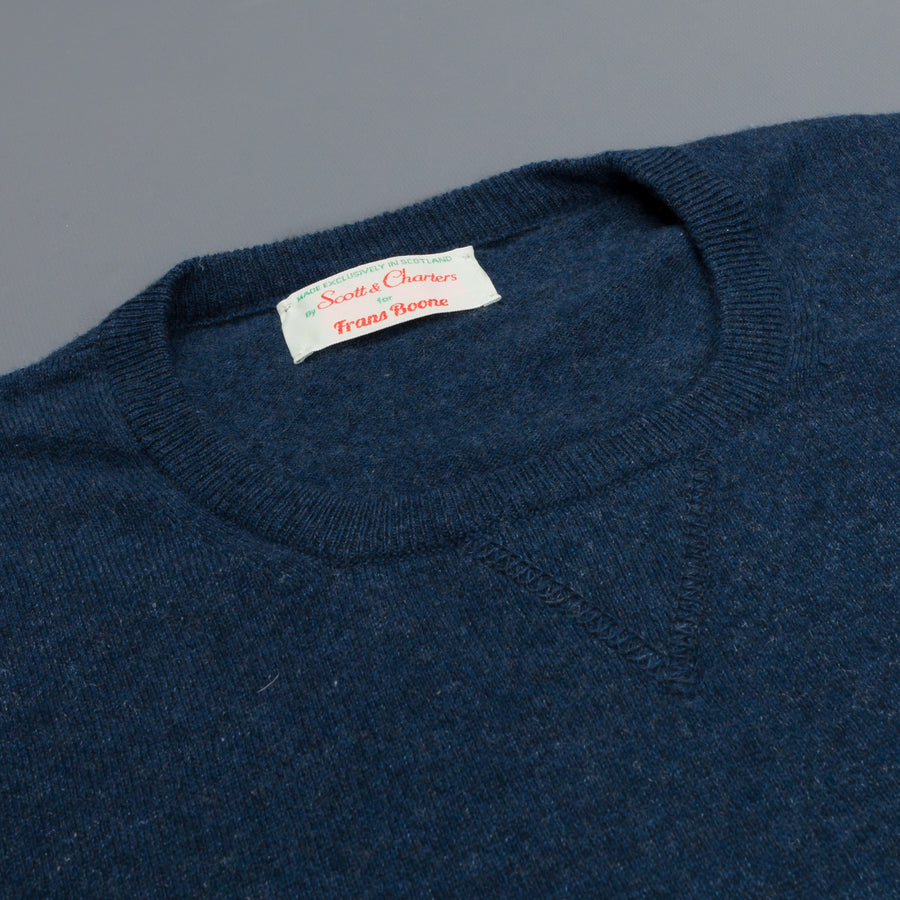 Scott and Charters x Frans Boone crew neck cashmere cotton Japanese