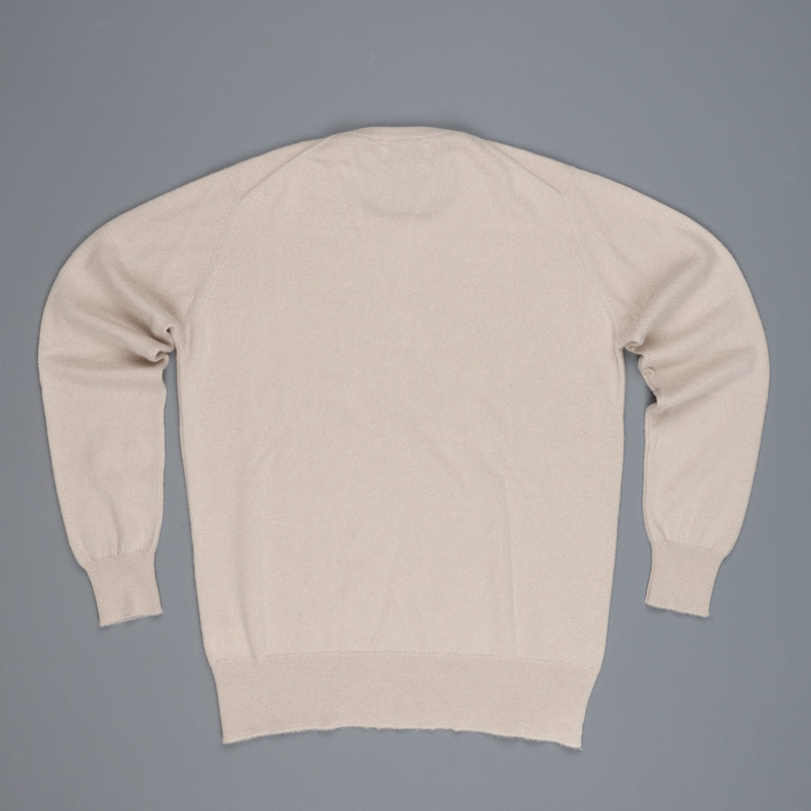 Scott and Charters x Frans Boone crew neck cashmere cotton Earl Grey
