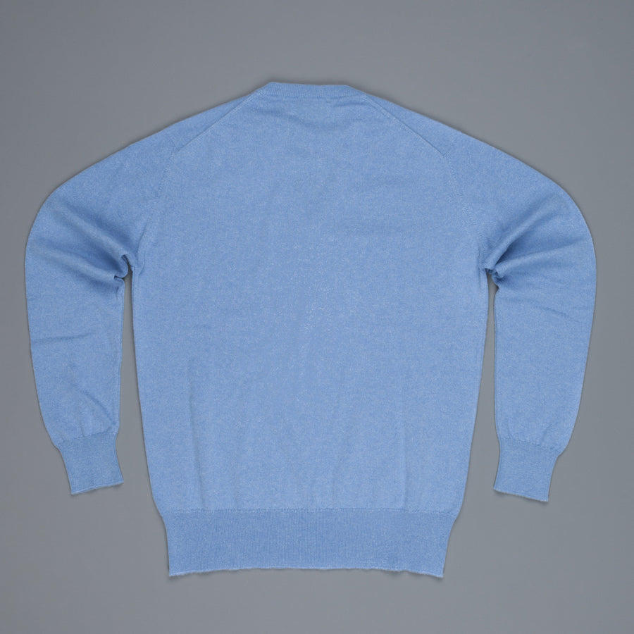 Scott and Charters x Frans Boone V-neck cashmere cotton Blue Haze