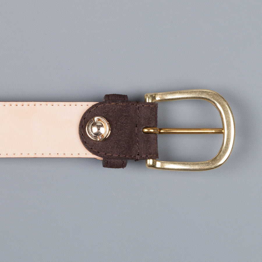 Simonnot & Godard x Frans Boone Calf Suede belt Coffee
