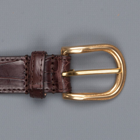 Simonnot & Godard x Frans Boone Alligatore Americano belt brown
