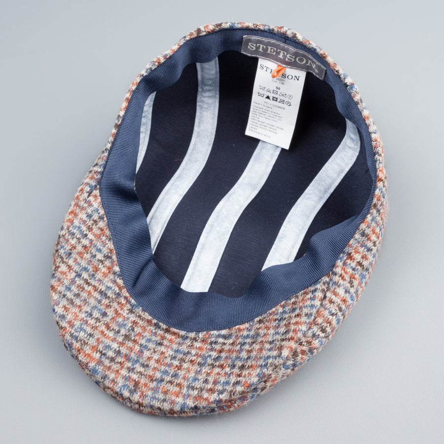 Stetson Michigan jersey driving cap narrow check