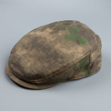 Stetson Kent cap in camouflage wax cloth