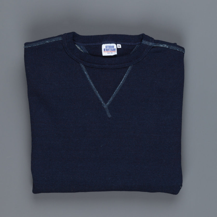 Studio d'Artisan indigo rope Dye loopwheel Sweat shirt