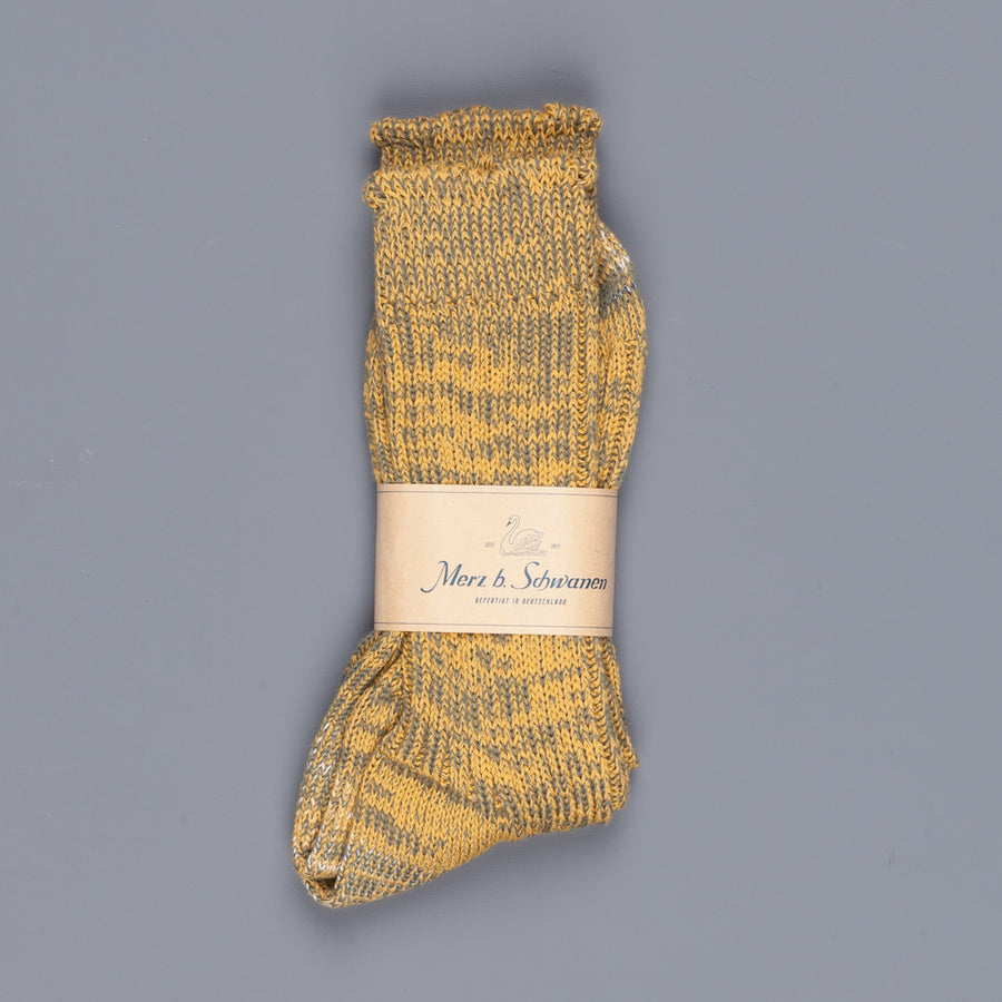 Merz B Schwanen socks army yellow
