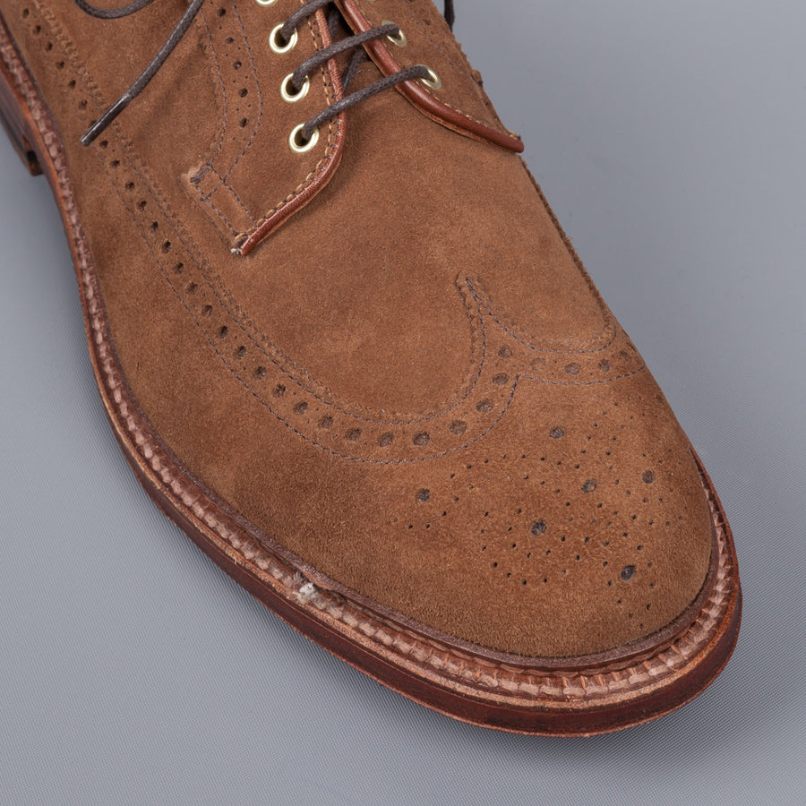 Alden Longwing Snuff suede on double waterlock sole