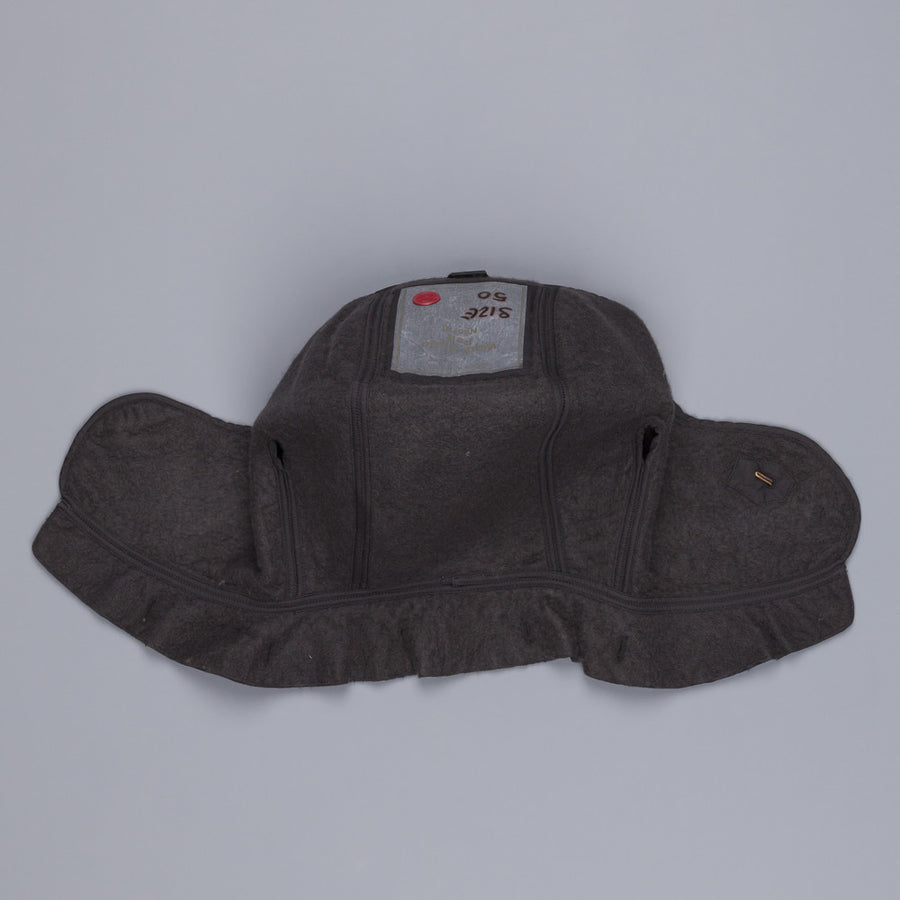 Ten C Wool hood Felt Dark Grey