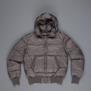 Ten C Hooded Down Filling Mid Layer Grey