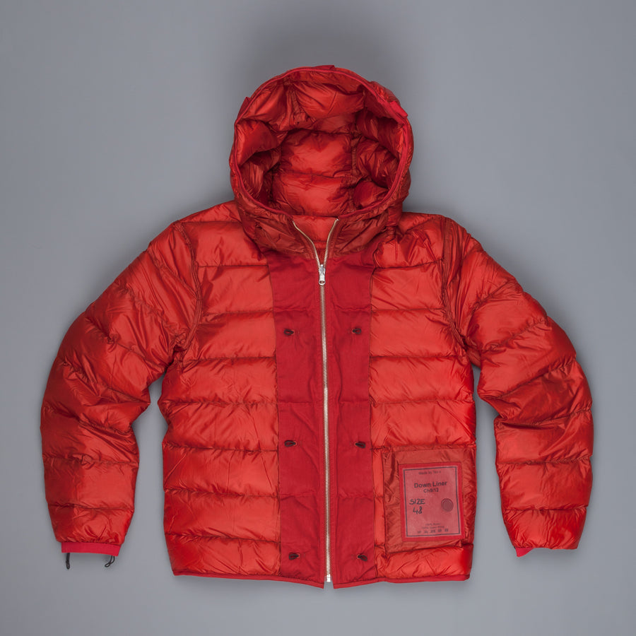 Ten C Hooded Down Liner Red
